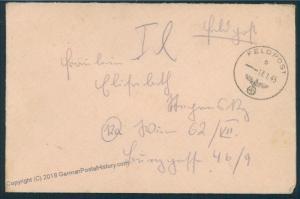 3rd Reich 1945 Gren Regt 1124 558th Volks-Grenadier Div Feldpost Cover 53055