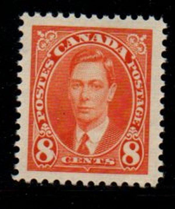 Canada Sc 236 1937 8 c George VI stamp mint NH