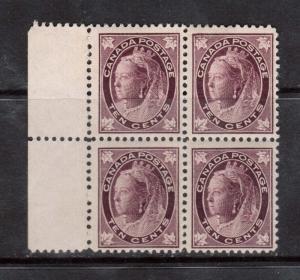 Canada #73 NH Mint Margin Block **With Certificate**