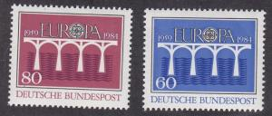 Germany # 1415-1416, Europa '84, NH, 1/2 Cat.