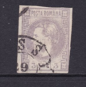 Romania a used imperf 3b from the 1868 set