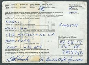 CANADA REVENUE ONTARIO 1990 RESIDENT SPORT FISHING LICENCE & TAG