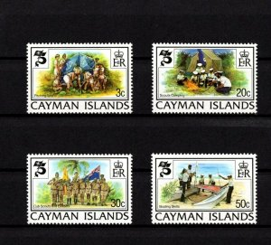 CAYMAN IS - 1982 - BOY SCOUT - SCOUTING YEAR - FLAG - BOATING + MINT - MNH SET!