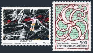 France 1969-1970,MNH.Michel 2513,2519. Art 1985.By J.Dubuffet,P.Alechincky.