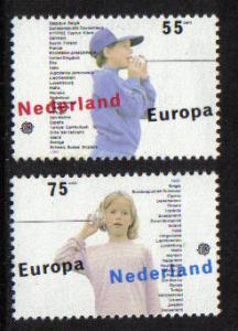 Netherlands 1989  MNH Europa Children's games