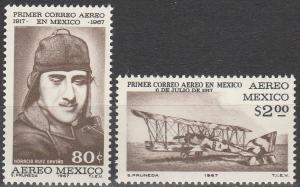 Mexico #C325-6 MNH F-VF (SU5267)