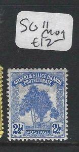 GILBERT & ELLICE IS  (P0607B)  TREE  2 1/2D  SG 11  MOG