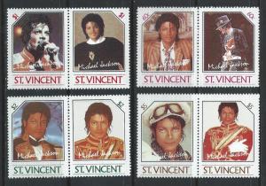 St. Vincent MNH 894-7 Pairs Michael Jackson 1985