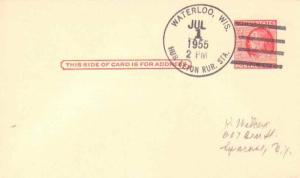 United States Wisconsin Hubbleton Rur. Sta. Waterloo 1955 4-bar  1955-1957  P...