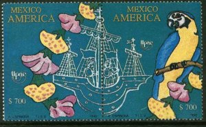MEXICO 1679a, AMERICA ISSUE, SE-TENANT PAIR. MINT, NH. VF.