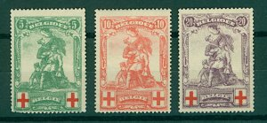 Belgium 1914 Red Cross Fund 5c to 20c sg151/3 cv£110 (3v) Mounted Mint Stamps