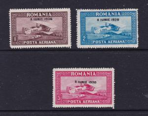 Romania a good 1930 Air set MH