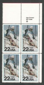 2369 Olympic Games Zip Block Mint/nh FREE SHIPPING