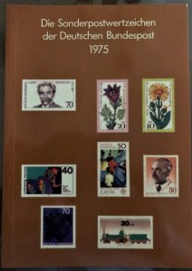 Dt. Bundespost 1975 BRD and Berlin MNH Commemoratives Complete Year in booklet