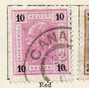 Austria 1899 Early Issue Fine Used 10h. NW-11515