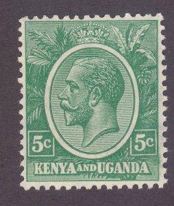 Kenya Uganda & Tanzania 20 5c Green MNH 1927 KGV Issue Very Fine