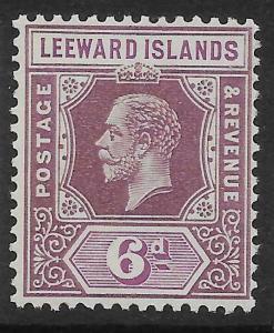 LEEWARD ISLANDS SG86 1931 6d DULL & BRIGHT PURPLE DIE I MNH