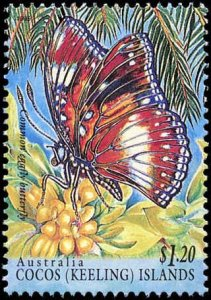 Cocos Islands #302-303, Complete Set(2), 1995, Insects, Butterflies, Never Hi...