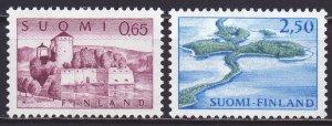 Finland. 1967. 621-22. Castle landscape. MNH.
