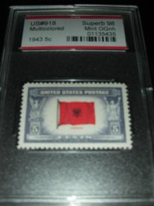 918 Superb 98 Albania flag in full set of stamps