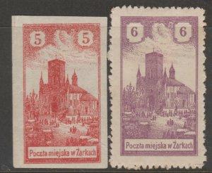 Poland Revenue fiscal Cinderella stamp 8-11-c4