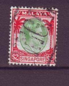 J21347 Jlstamps 1948 singapore used #19 king