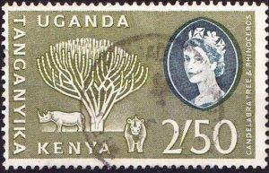 KENYA UGANDA TANGANYIKA 1960 QEII 2s50 Olive-Green & Deep Bluish Green SG195 FU