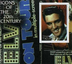 Tadjikistan 2001 Elvis Presley s/s Perforated mnh.vf