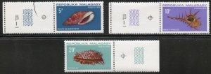 Malagasy Republic Scott 447-49 MVFNHOG - 1970 Seashells - SCV $5.00