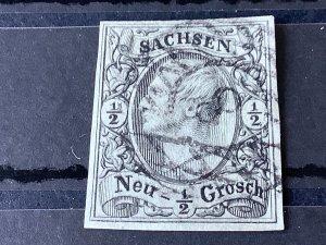 Saxony 1855 Grid Number 8  for Chemnitz  Cancel Stamp 57170