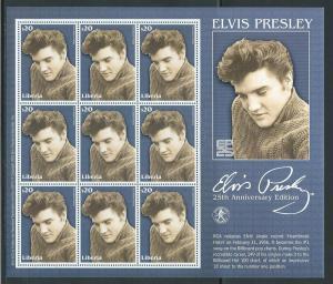 Liberia Unlisted 2002 Elvis m/s MNH (12-106)