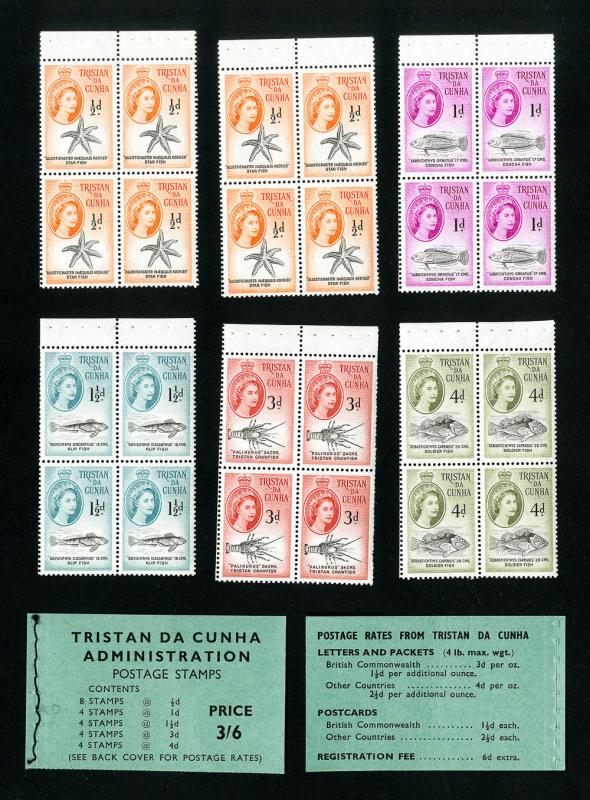 Tristan Da Cunha Stamps NH Complete Set Of Booklets 6 Panes HipStamp
