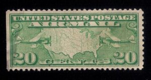 US SCOTT #C8 USED VF/XF LIGHTLY CANCELLED LEFT