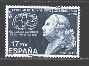 Spain. 1985. 2708. Munive writer. USED.