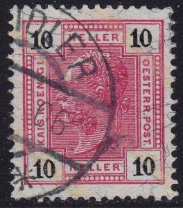 Austria - 1904 - Scott #97a - used - ZEIDLER pmk Czech Republic
