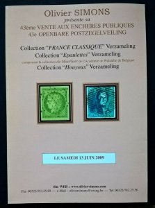 Auction Catalogue France Classique BELGIUM EPAULETTES Specialised