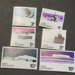 New Zealand Ross Dependency L9-14 Mint NH OG VF 1972, Cv.$2.25