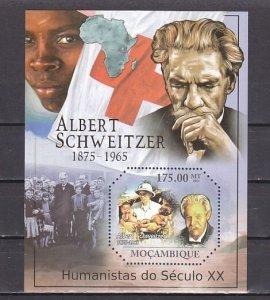 Mozambique, 2011 issue. Dr. Albert Schweitzer s/sheet. ^