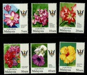 SARAWAK SG261/6 2007-9 GARDEN FLOWERS MNH