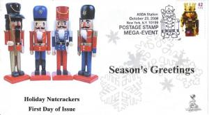 Holiday Nutcrackers First Day Cover, from Toad Hall Covers!