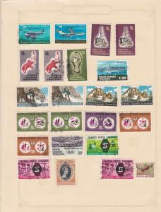 uganda kenya & tanzania stamps sheet ref 17786
