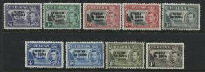 Tristan Da Cunha overprinted KGVI 1952 set to 1/  mint o.g.
