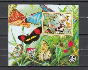 Benin, 2007 Cinderella issue. Butterflies s/sheet. Scout logo..
