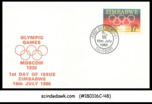 ZIMBABWE - 1980 OLYMPIC GAMES MOSCOW '80 - 2V - FDC