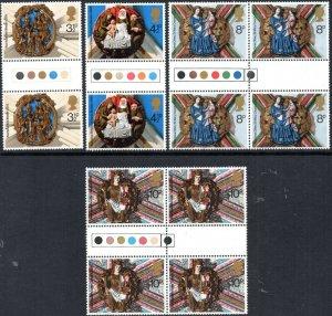 1974 Sg 966/969 Noël Circulation Lumière Paires Set 4 non Montés Excellent État