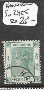 HONG KONG TREATY PORT HANKOW   (P2806B)  QV  10C  SG Z455  VFU