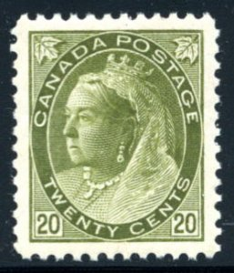 CANADA: Sc.#84  **  20¢ Olive Green, SPECTACULAR, PERFECTLY CENTERED with J...
