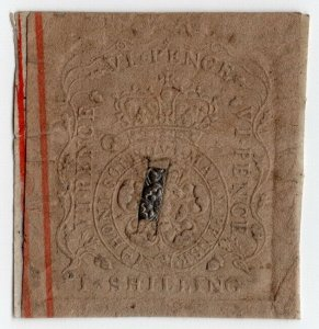 (I.B) George III Revenue : Writ 2/6d (impressed duty)