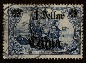 Germany 1911 Offices in China 1 Dollar Used Michel Mi45IAII Stamp 69596