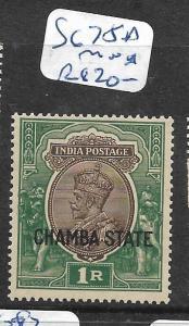 INDIA CHAMBA  (PP2905B)  KGV 1R  SG 75A   MNH